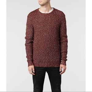 All Saints Arlberg Crew Jumper in Red